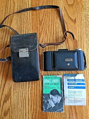 Vintage Kodak Kodex #1 Folding Bellows Camera w/ Leather Case and Instructions