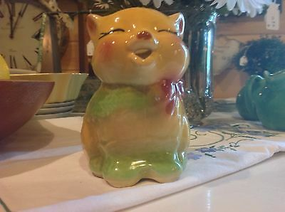 "Vintage 1940's Shawnee #85 Puss & Boots Cat Creamer Pitcher 4.5"" tall"