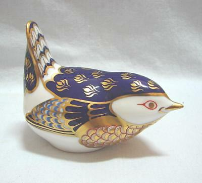 vintage Royal Crown Derby Paperweight Wren Xcellent Cond