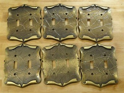Vintage AMEROCK Carriage House * 6 Double Switch Cover Plates