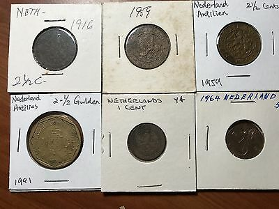 Netherlands old and new Cents world foreign coins lot great condition