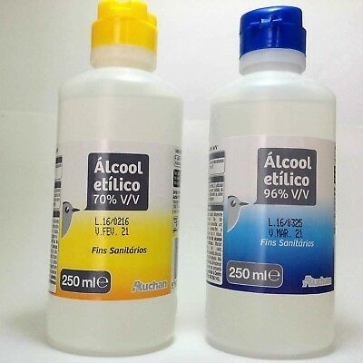 Ethyl Alcohol (ETHANOL) 96% or 70% Antiseptic Disinfectant Clean 250ml to 500ml