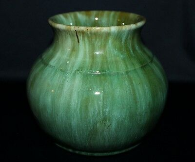 Magnificient Aust Pottery Large Waisted CAMPBELL Pot Heavy Drip Glazing