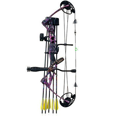 Redzone Vulture Pink Camo Compound Bow - Right Hand 45Lb Ready To Shoot Pack