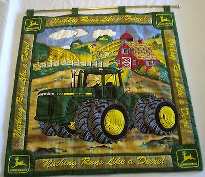 John Deere Quilted Wall Hanging Banner Double Sided