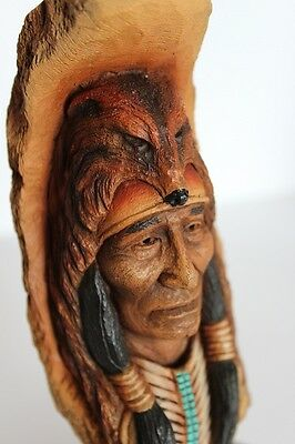 Limited Edition Neil Rose Sculpture Native America - Seeking The Hills -  C1991
