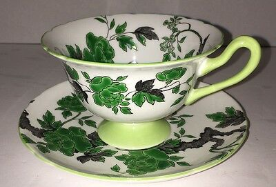 "SHELLEY Bone China England ""Ovington"" Pattern Chippendale 13216 Cup & Saucer"