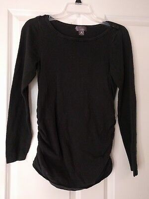 Oh Baby Maternity Black Long Sleeve Top M