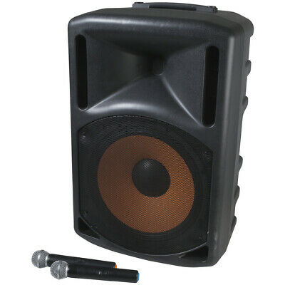 Digitech Portable Active 15 inch PA Speaker with Two Channel UHF Microphnes