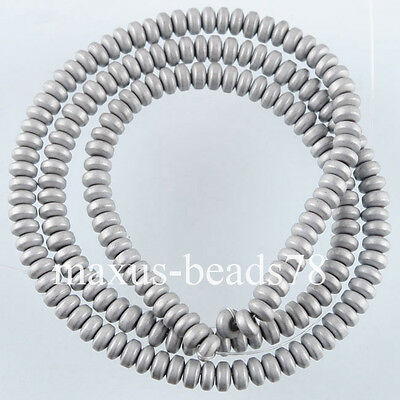 Free shipping Silver Hematite Gemstone Rondelle 2x4mm Beads 15.5 Inches MG1657
