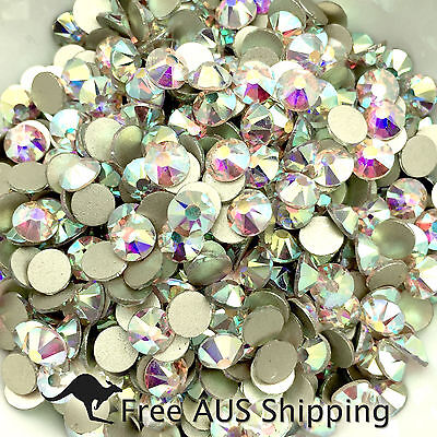 Crystal AB Non Hotfix Flatback Rhinestones SS20 100pcs - Beautiful Sparkle AAA+