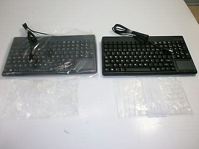 Job Lot 2 X New Cherry Spos Small Point Of Sale Qwerty Keyboard With Touchpad