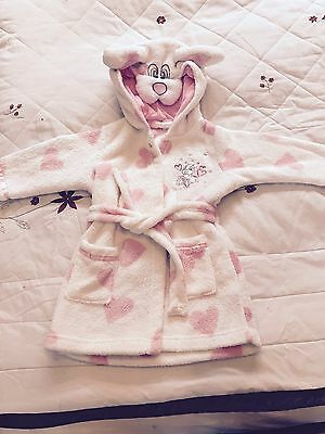 Disney store Thumper Bunny Rabbit Bath time Dressing Gown 6-9mths.