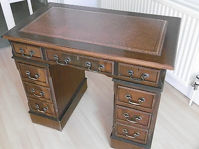 Small Mahogany Pedestal Desk