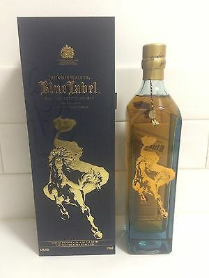 JOHNNIE WALKER 750ml Zodiac Year of the Horse Blue Label Scotch Whisky In Box!