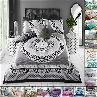 Duvet Cover Set With Pillow Case King Size Double Single Super King Bedding New