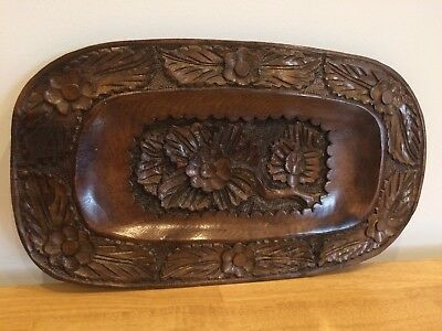 Hand Carved Solid Hardwood Tray
