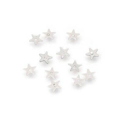 400 Tiny Silver Star Sequins -  Christmas Craft Embellishment - Sew On Sequins