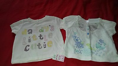 Baby girls two t shirts BNWT size 3-6 months