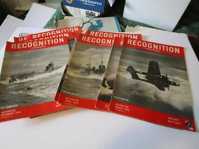 Lot of 16 Different WW2 Recognition Journals