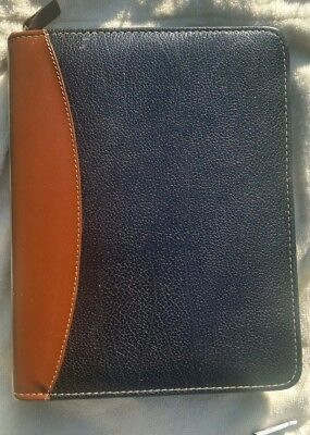 Franklin Covey Black Brown 2-tone Verona Leather Classic Planner 7-ring Binder