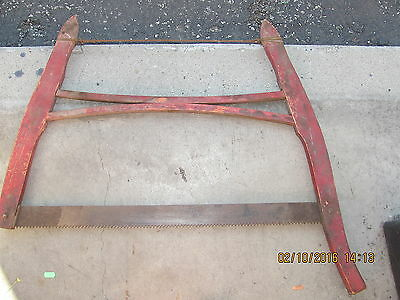"""Vintage 28"""" Red Buck Saw"""