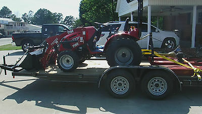 TYM 4x4 Hydrostatic Drive Tractor, Loader, Cutter, Blade and Trailer