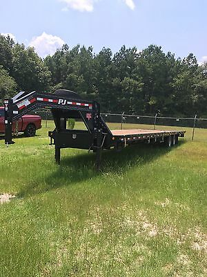 40 ft PJ gooseneck air ride lift axle hydrolic dove tail- 40 ft trailer