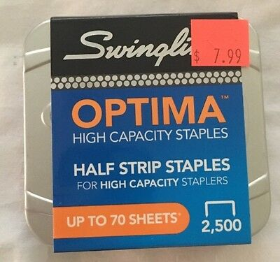 "Swingline 35550 High Capacity Staples, 1/2""W,3/8""L, 125/Strip, 2500/BX"