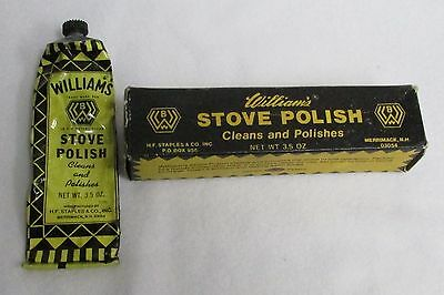 Vintage Piece of Advertising -  WILLIAM'S STOVE POLISH AND BOX - Estate Find