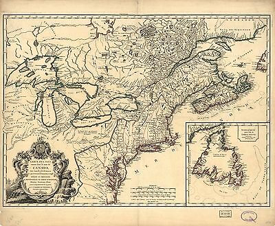 12x18 inch Reprint of Canadian Map Canada