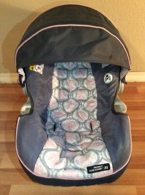 Graco Click Connect 30 35 Baby Car Seat Cover Cushion Canopy Set Part Pink Gray