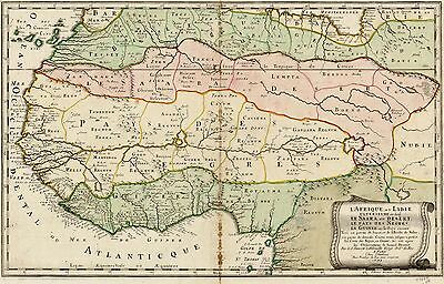 12x18 inch Reprint of Old Maps 1679 Map Reprint African Mainland And Sahara Etc