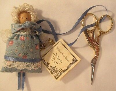 VINTAGE Patricia Ann Norling SCISSOR (Italy) PIN CUSHION DOLL Made in USA NOS