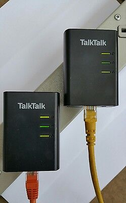 2 x D-LINK DHP-308AV Powerline Adapters + 2 x Ethernet Cables. ANY Internet