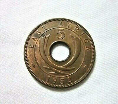 British East Africa. 5 Cents, 1952. King George Vi.