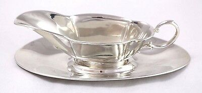 Vintage Sterling Silver Small Sauce Boat w/ Underplate