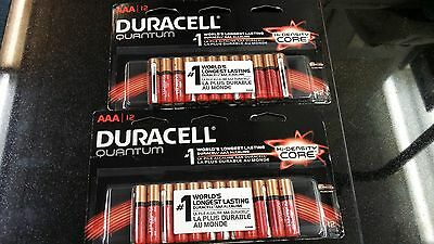 Duracell Quantum AAA Alkaline Batteries Powercheck Exp 12/25 Lot of 2 Brand New