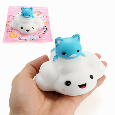 Squishy Cloud Cat 11cm Slow Rising With Packaging Collection Gift Decor Soft Squ