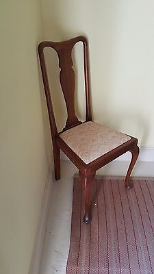 Dining chairs FRENCH Victorian oak x 6. 1 seat pad missing Stunning solid chairs