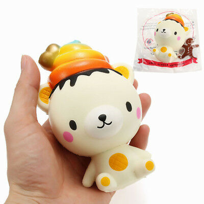 Squishy Ice Cream Bear 13cm Slow Rising With Packaging Collection Gift Decor Sof