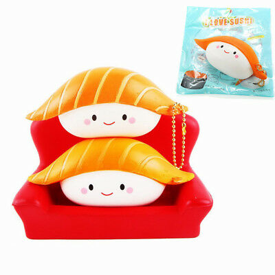 SanQi Elan Squishy Salmon Sushi 12cm Slow Rising With Packaging Collection Gift
