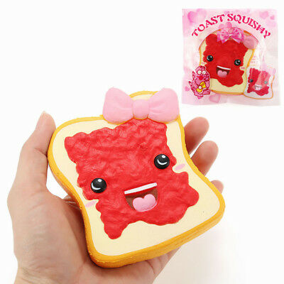 Connie Squishy Toast Slice With Jam Bread 10cm Slow Rising With Packaging Collec