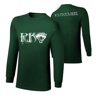 Wwe Randy Orton #outtanowhere Youth Long Sleeve T-Shirt Kids Official New