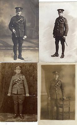 4 Pc Photos Soldiers Royal Artillery, WW1 period