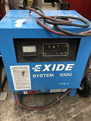 Used 24 VDC Exide System 1000 G1-12-380 Battery Charger 208/240/480VAC