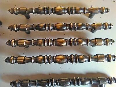 12 Vintage Drawer Pulls Ornate Style Cabinet Doors Handles T-Bar Style NOS