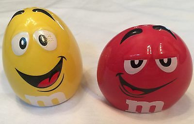 M&M's collectible ceramic Salt and Pepper Shakers featuring the M&M guys