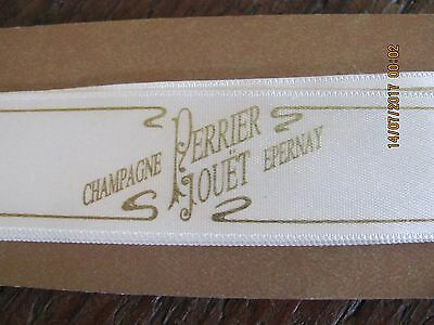 Original Perrier Jouet Epernay Champagne Satin Trim 1 1/2 yards