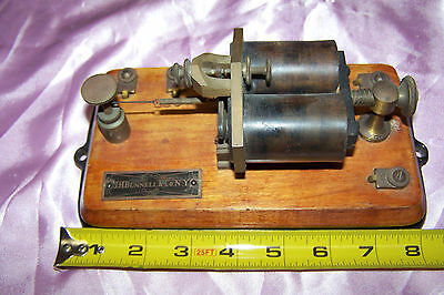 """Thin Telegraph Relay """"J.H.Bunnell"""", """"150 Ohms"""" --- LOL UNTESTED"""